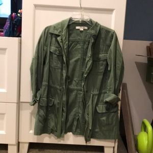 Forever 21 green lightweight utility jacket (used)